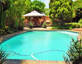 Pool and garden at Pepperwood